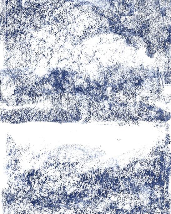 Die blaue Stunde, pastel on paper, 21cm × 29,7 cm, 2017 artwork by Nina Ansari