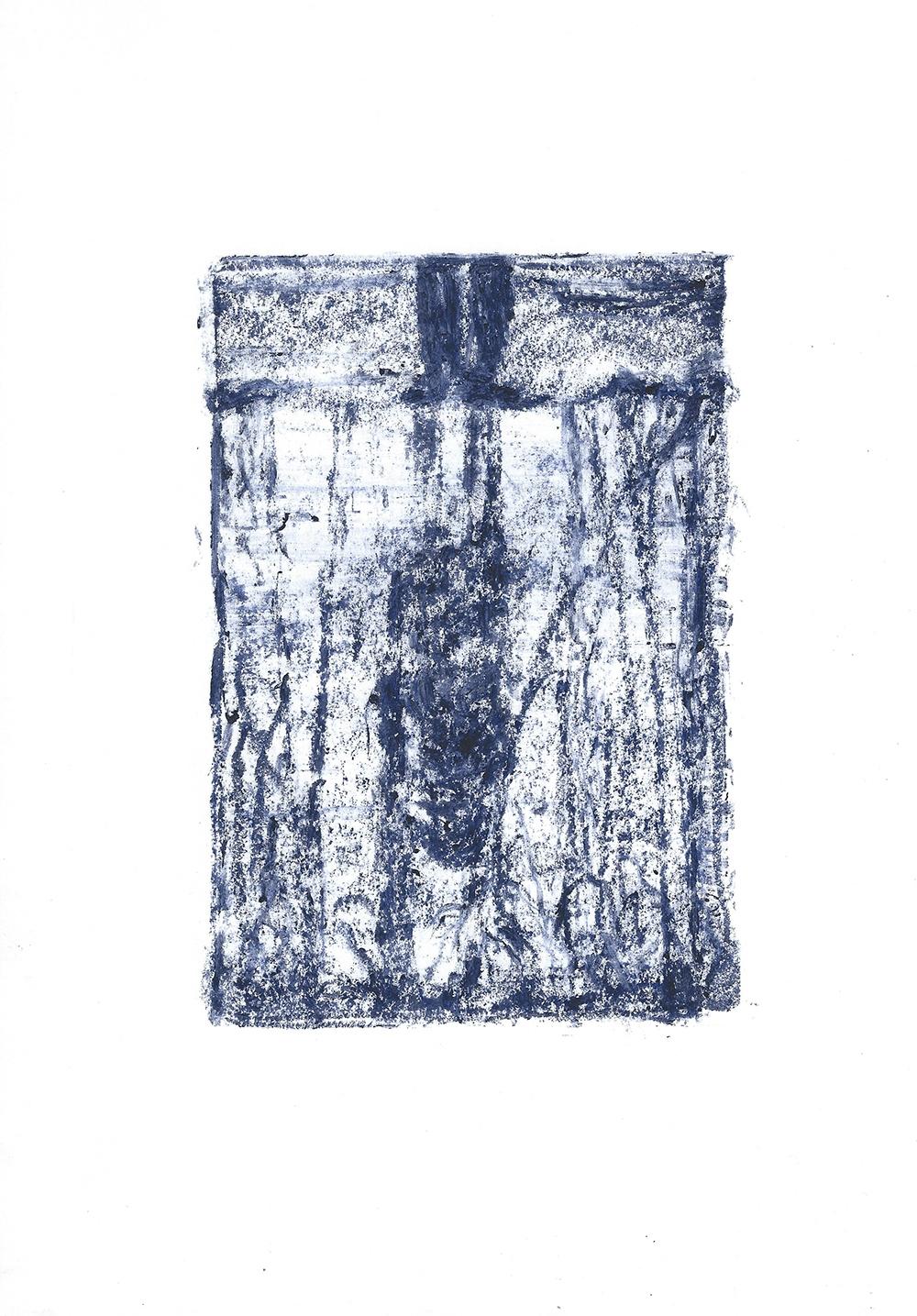 blaue stunde, pastel on paper-21cm × 29,7 cm-2017copyright-ninaansari-wp (11)